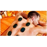 massagem com pedras quentes preço Bairro Jardim
