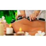 massagem com pedras quentes valor Sitio Mato Dentro
